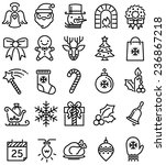 christmas ios flat style icons | Shutterstock . vector #236867218