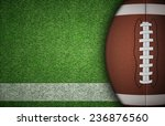 American Football Ball On Gree...