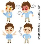 set of the angry young man | Shutterstock .eps vector #236882434