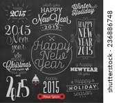 collection of vintage new year... | Shutterstock .eps vector #236886748
