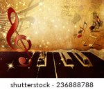music background with piano... | Shutterstock . vector #236888788