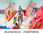 workplace of designer clothing... | Shutterstock . vector #236893846
