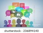 social networks communication... | Shutterstock .eps vector #236894140