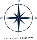 compass rose on white... | Shutterstock .eps vector #236899573