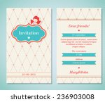 vector style invitation with... | Shutterstock .eps vector #236903008