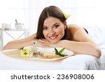 beautiful young woman having... | Shutterstock . vector #236908006