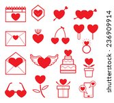 line icons set   love objects | Shutterstock .eps vector #236909914