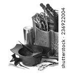 professional hairdresser tools  ... | Shutterstock . vector #236922004