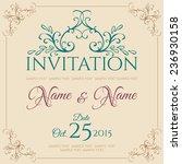 invitation card design. vector... | Shutterstock .eps vector #236930158