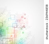 abstract technological... | Shutterstock .eps vector #236944858