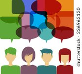 people icons with chat speech... | Shutterstock .eps vector #236962120