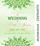 wedding invitation. hand drawn... | Shutterstock .eps vector #236964070