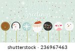 vintage merry christmas and... | Shutterstock .eps vector #236967463