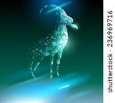 goat. happy new year 2015.  | Shutterstock . vector #236969716