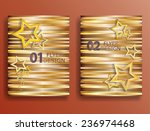 vector golden flyer templates.... | Shutterstock .eps vector #236974468