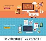 set of flat design vector...   Shutterstock .eps vector #236976454