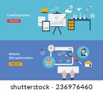set of flat design vector... | Shutterstock .eps vector #236976460
