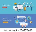 set of flat design vector... | Shutterstock .eps vector #236976460