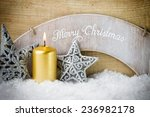christmas scene  candles with... | Shutterstock . vector #236982178