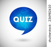 quiz vector icon | Shutterstock .eps vector #236982610