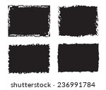 grunge frame set.background... | Shutterstock .eps vector #236991784