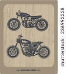 vintage motorcycle set | Shutterstock .eps vector #236992228
