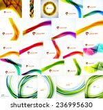 collection of vector blurred... | Shutterstock .eps vector #236995630
