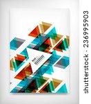 flyer  brochure design template ... | Shutterstock .eps vector #236995903