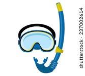 blue diving mask  diving tube ...   Shutterstock .eps vector #237002614