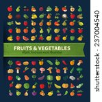 fruits and vegetables. organic... | Shutterstock .eps vector #237004540