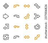 arrows web icons set | Shutterstock .eps vector #237006826
