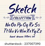 vector set with hand written... | Shutterstock .eps vector #237007390