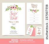 vector set of invitation cards... | Shutterstock .eps vector #237007558