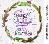 Watercolor Christmas Greeting...