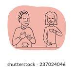 tea table talk | Shutterstock .eps vector #237024046