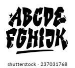 graffiti style font type.... | Shutterstock .eps vector #237031768