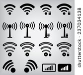 wireless icons | Shutterstock .eps vector #237034138