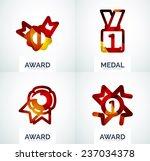 colorful award business logo... | Shutterstock . vector #237034378