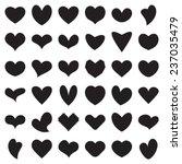 valentine heart symbol... | Shutterstock .eps vector #237035479