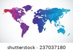 abstract world map | Shutterstock .eps vector #237037180