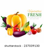 food fresh vegetables realistic ... | Shutterstock . vector #237039130