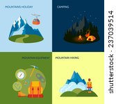 mountains camping icons flat... | Shutterstock . vector #237039514