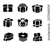 black and white boxes and... | Shutterstock . vector #237040039