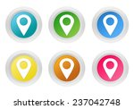 set of rounded colorful buttons ... | Shutterstock . vector #237042748