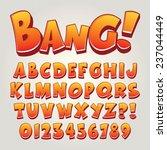Comic Pop Art Alphabet And...