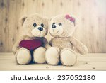 Two Teddy Bear With Heart On...