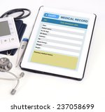 electronic medical record show...   Shutterstock . vector #237058699