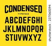condensed typeface  industrial... | Shutterstock .eps vector #237060094