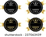 gold sign and silver sign label ... | Shutterstock .eps vector #237063439