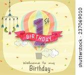 kids 1st birthday celebration... | Shutterstock .eps vector #237069010